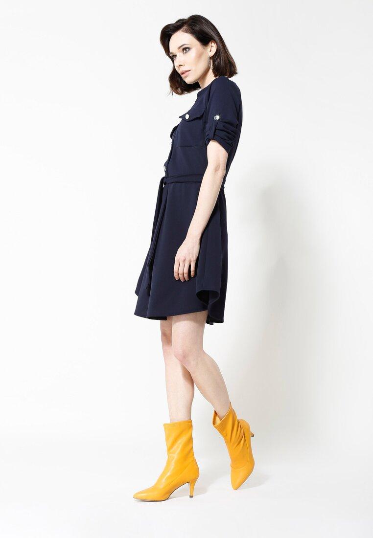 Granatowa Sukienka Remarkable