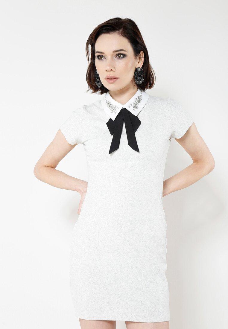 Szara Sukienka Front Cuteness