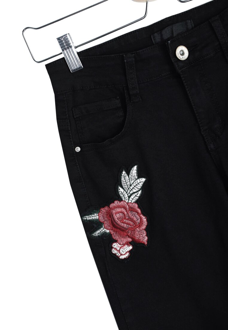 Czarne Jeansy Red Roses