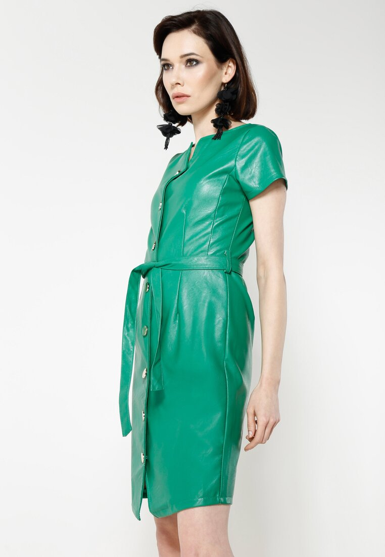 Zielona Sukienka Waistband