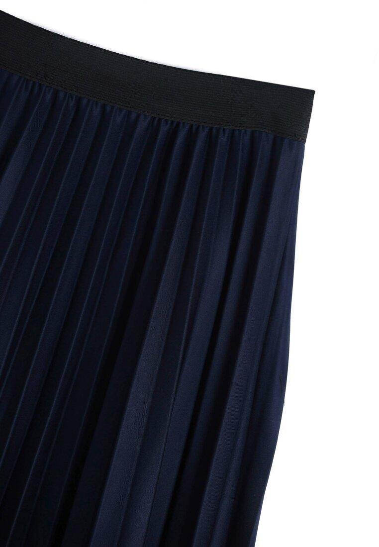 Granatowa Spódnica Pleated Story