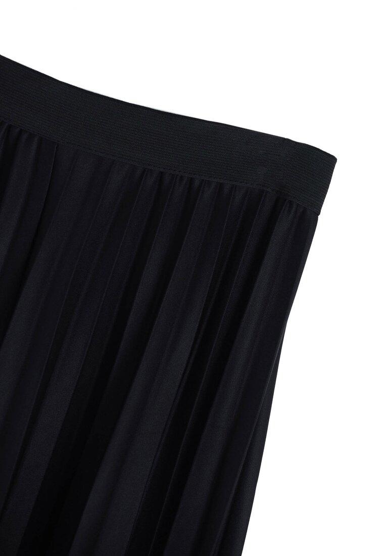 Czarna Spódnica Pleated Story