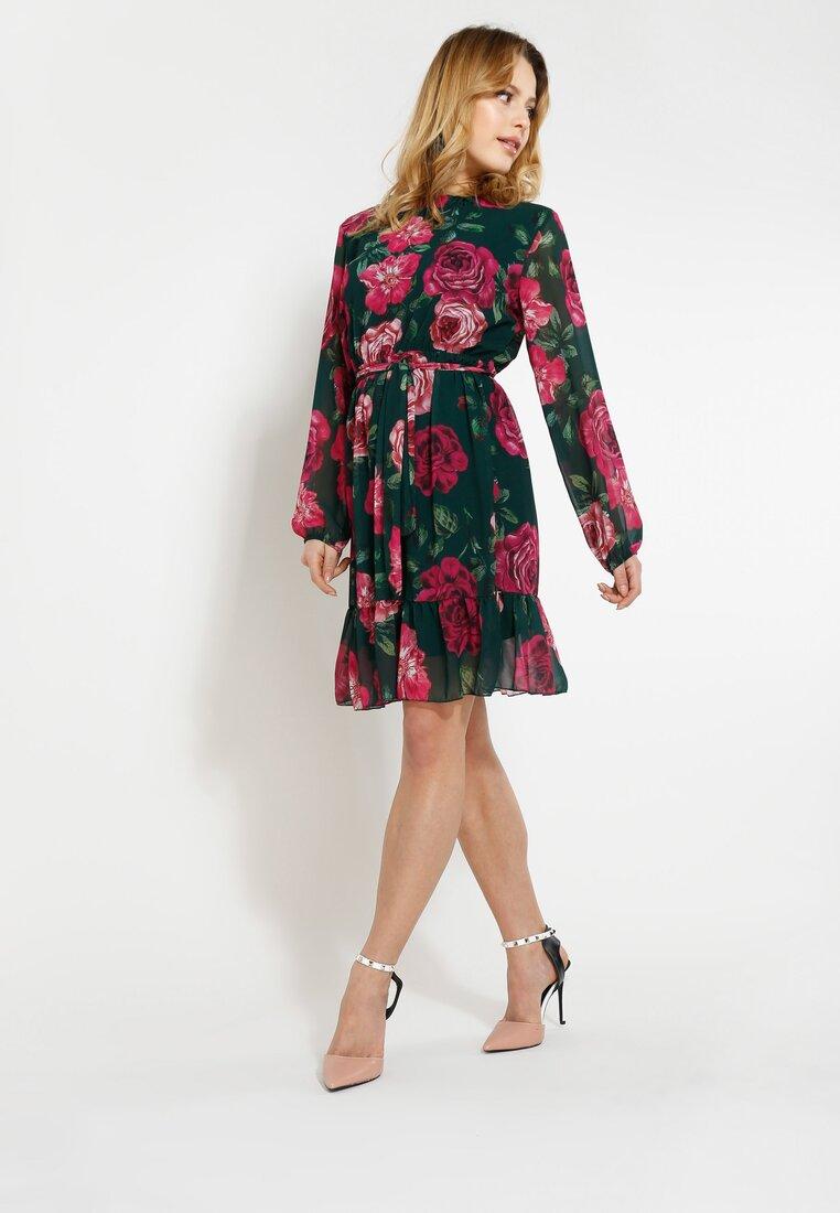 Zielono-Różowa Sukienka Spring Mood