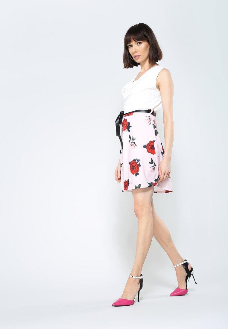 Biało-Bordowa Sukienka Endearing