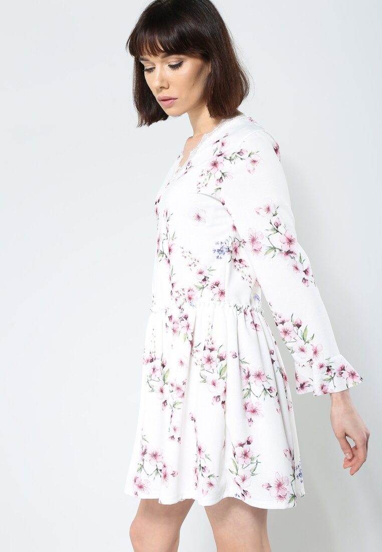 Biała Sukienka Sweety Flower