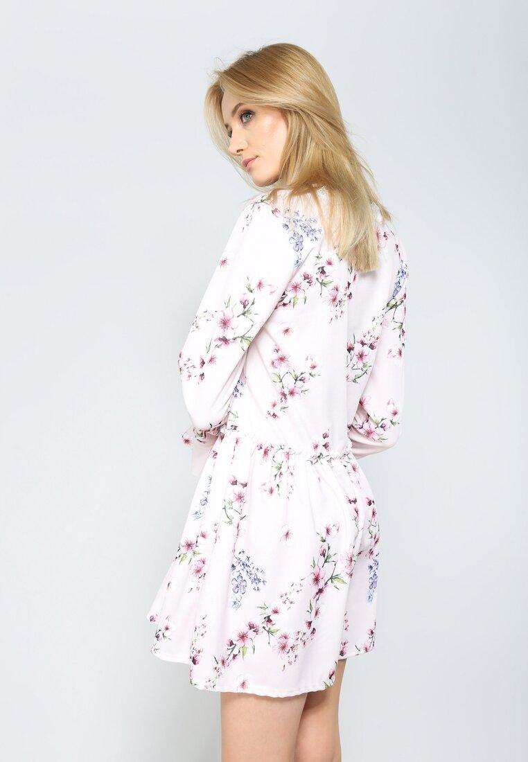 Jasnoróżowa Sukienka Sweety Flower