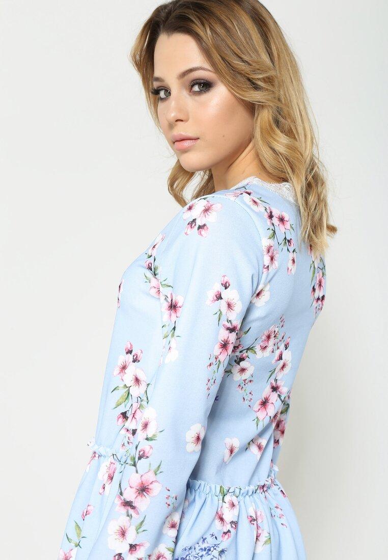 Niebieska Sukienka Sweety Flower