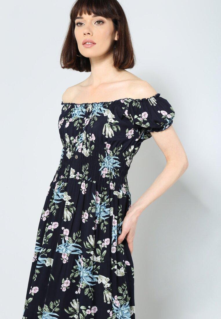 Granatowa Sukienka Airy