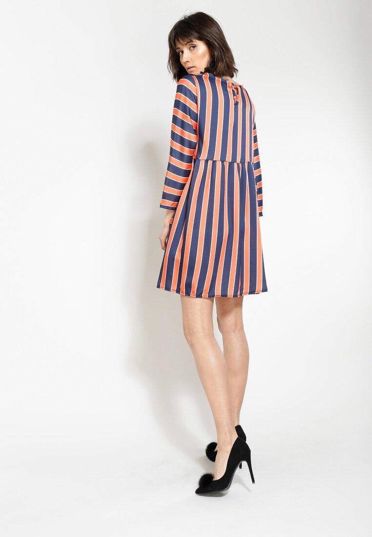 Pomarańczowa Sukienka Straight Line