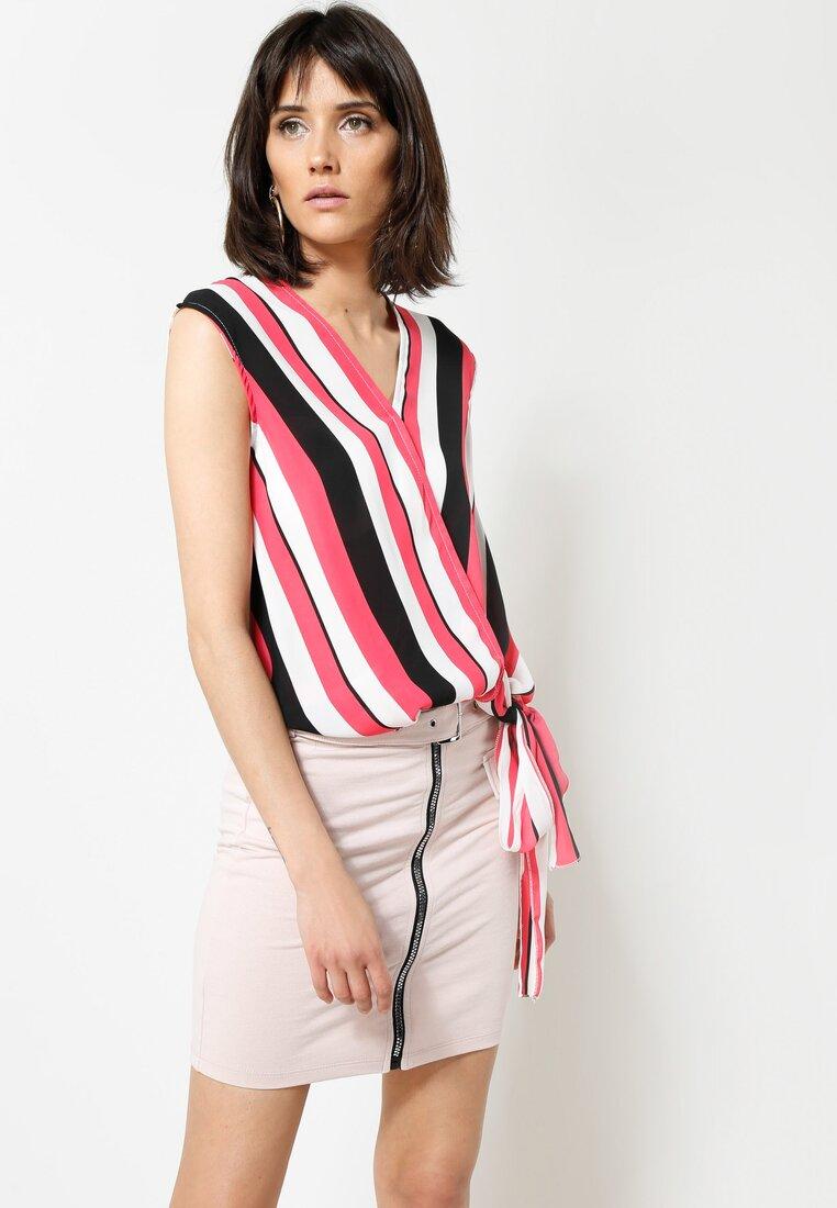 Koralowa Bluzka Perfect Stripes