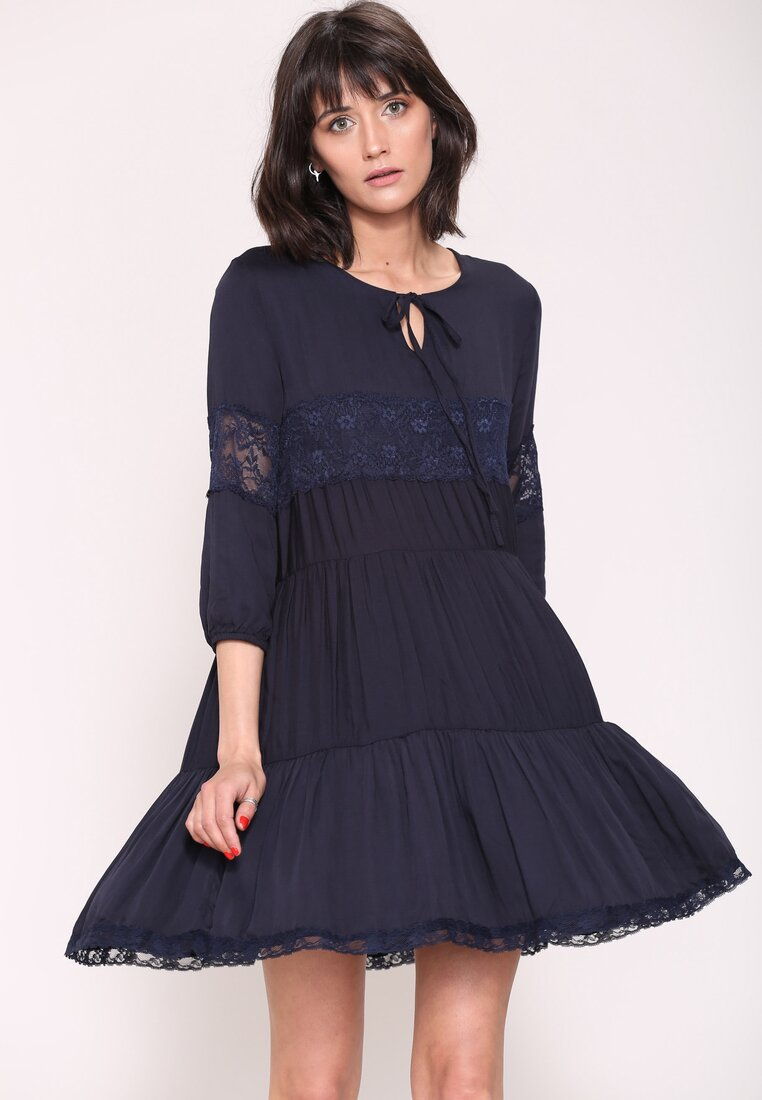 Granatowa Sukienka Know Me