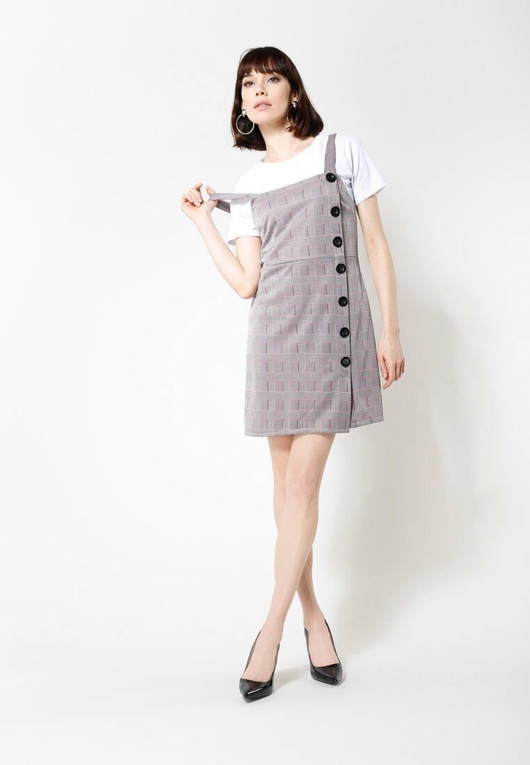 Szaro-Fuksjowa Sukienka Teenage Dream