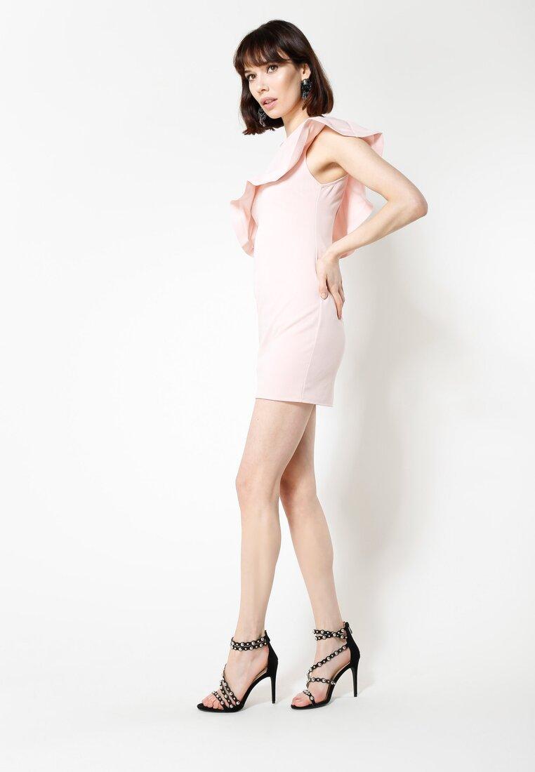 Różowa Sukienka Broken Heart