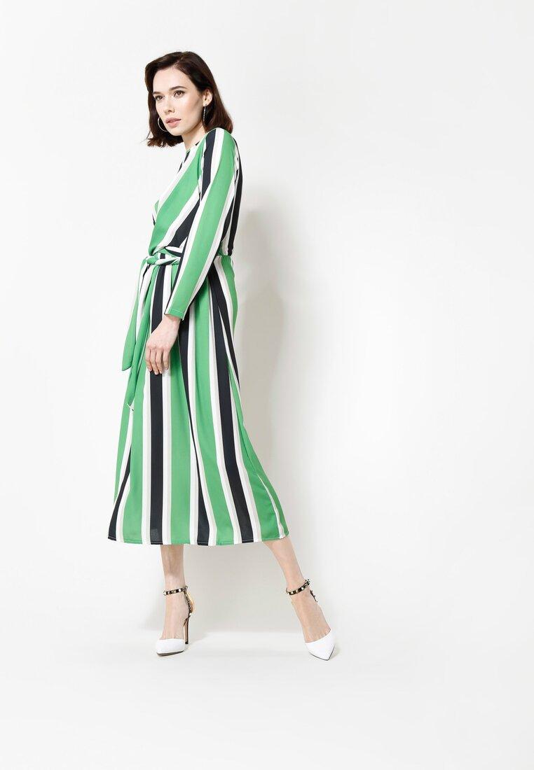 Zielono-Czarna Sukienka Come And Get Me