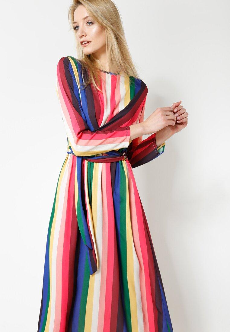 Różowo-Niebieska Sukienka Come And Get Me