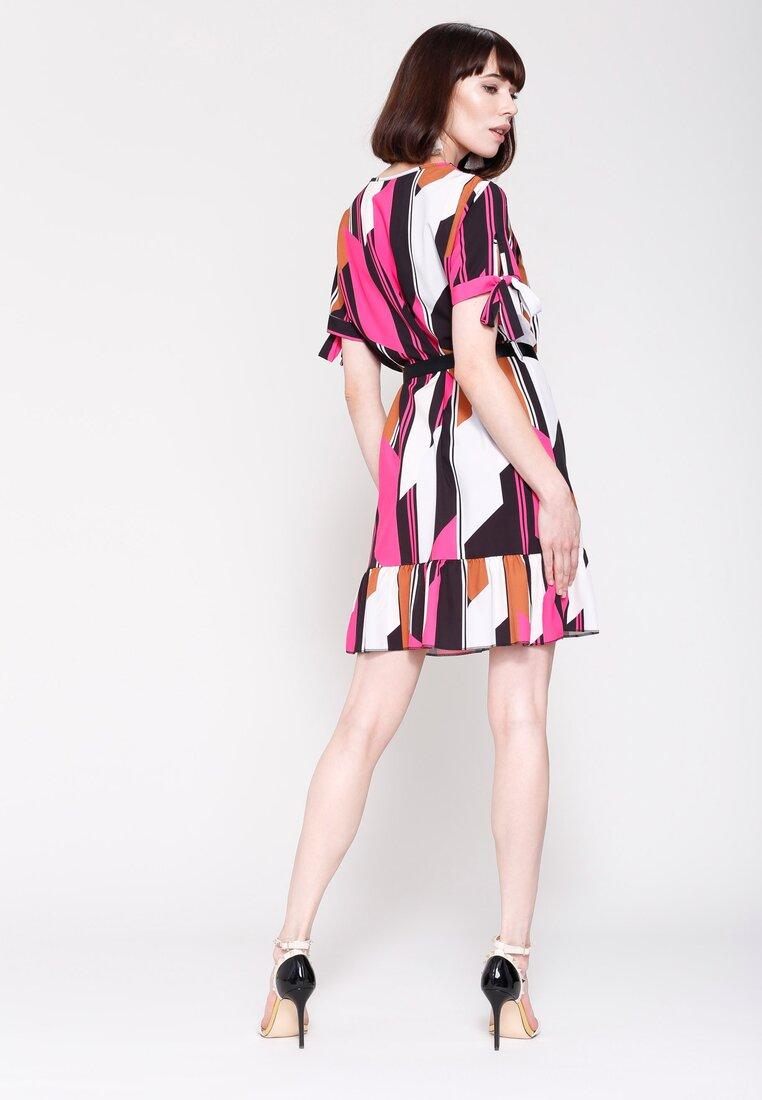 Fuksjowa Sukienka Colourfull Wind