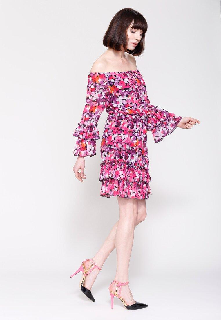 Fioletowa Sukienka Vulcano