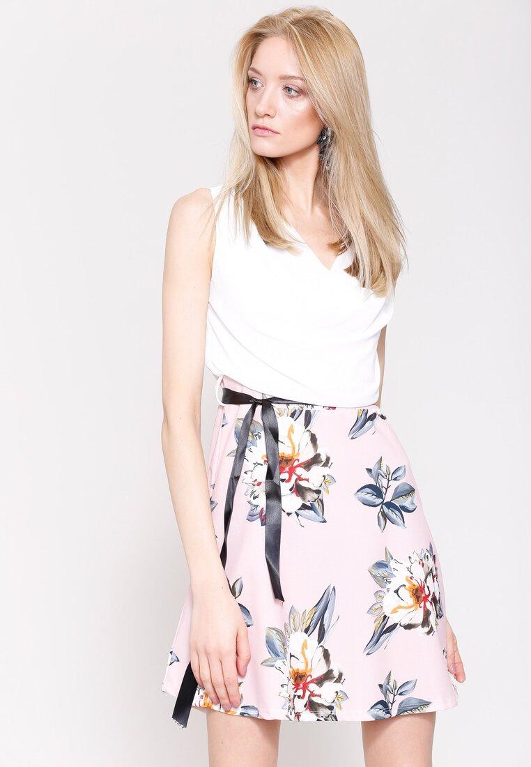 Różowo-Kremowa Sukienka Endearing