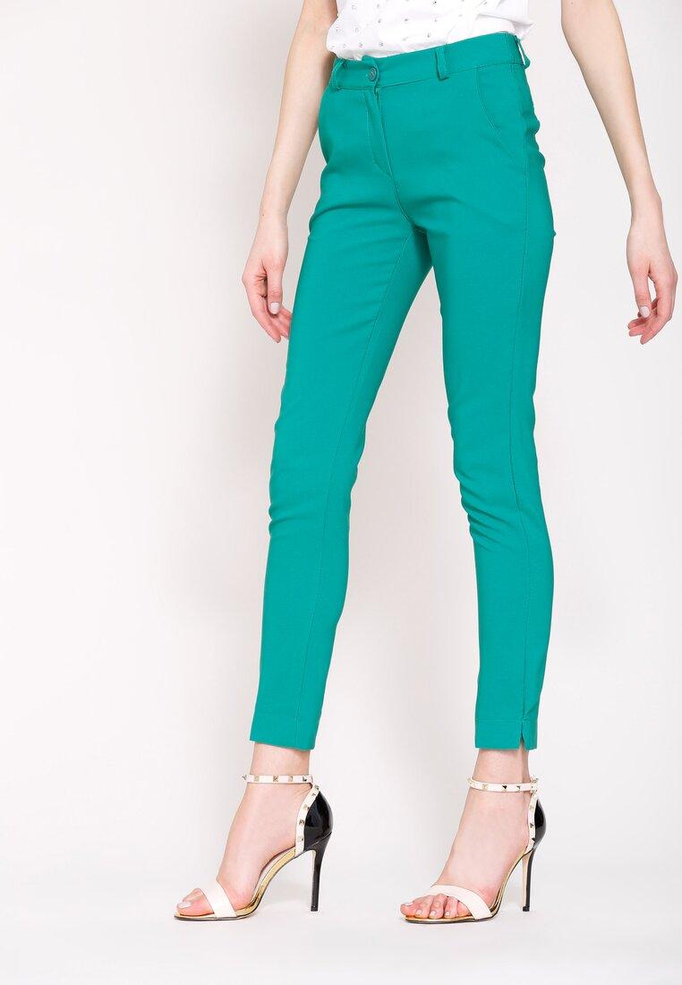 Zielone Spodnie Femininity
