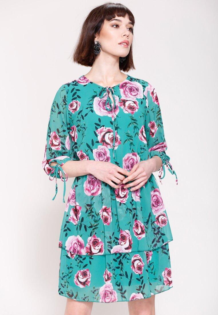 Zielona Sukienka Magical Flowers