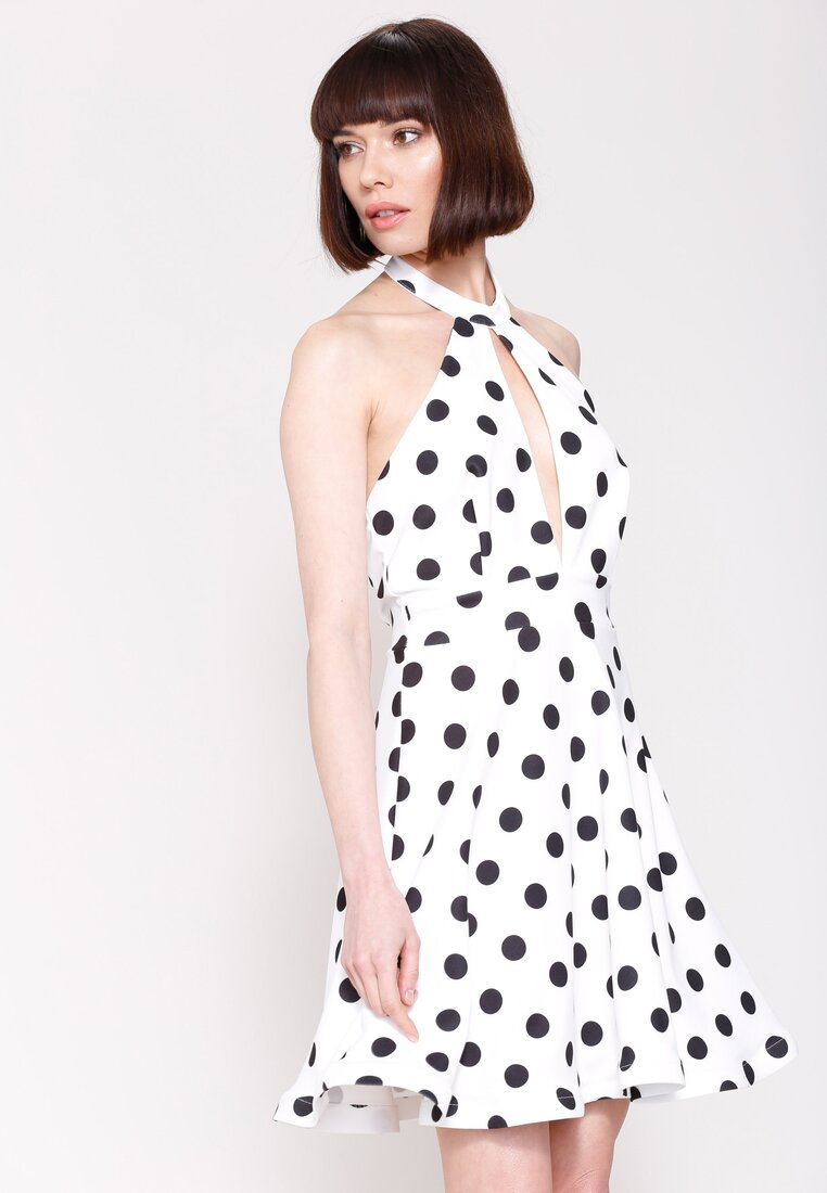 Biała Sukienka Crazy Me