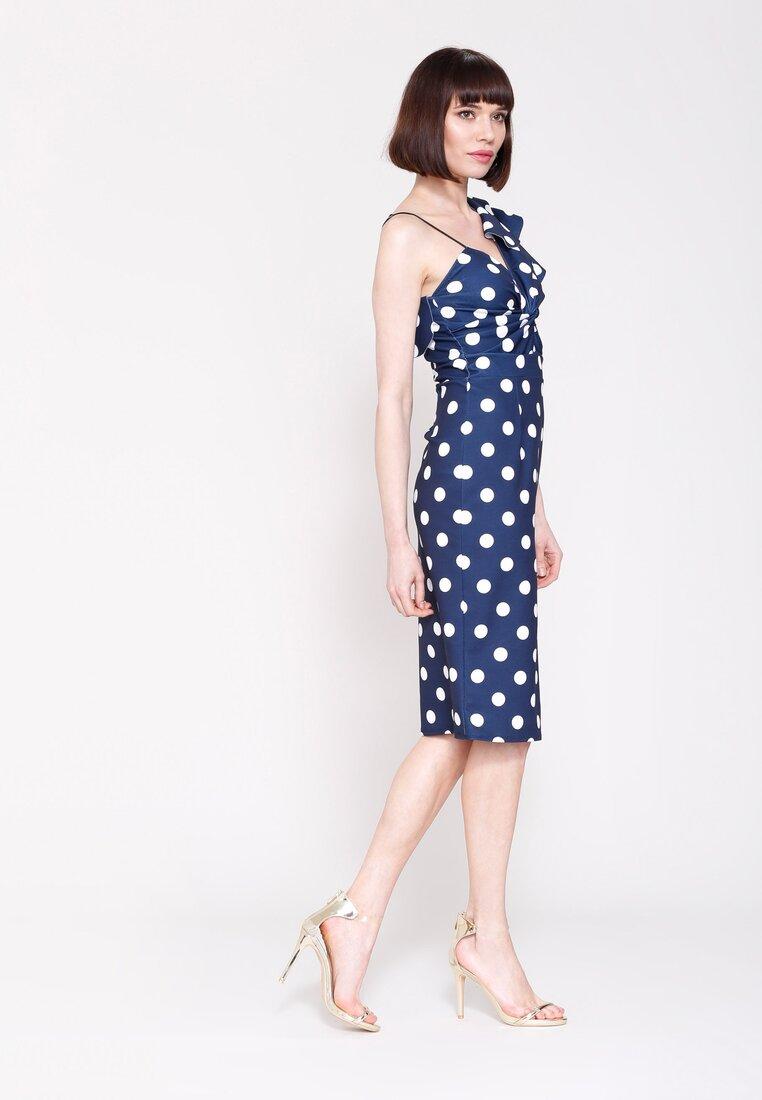 Granatowa Sukienka I Like Dots