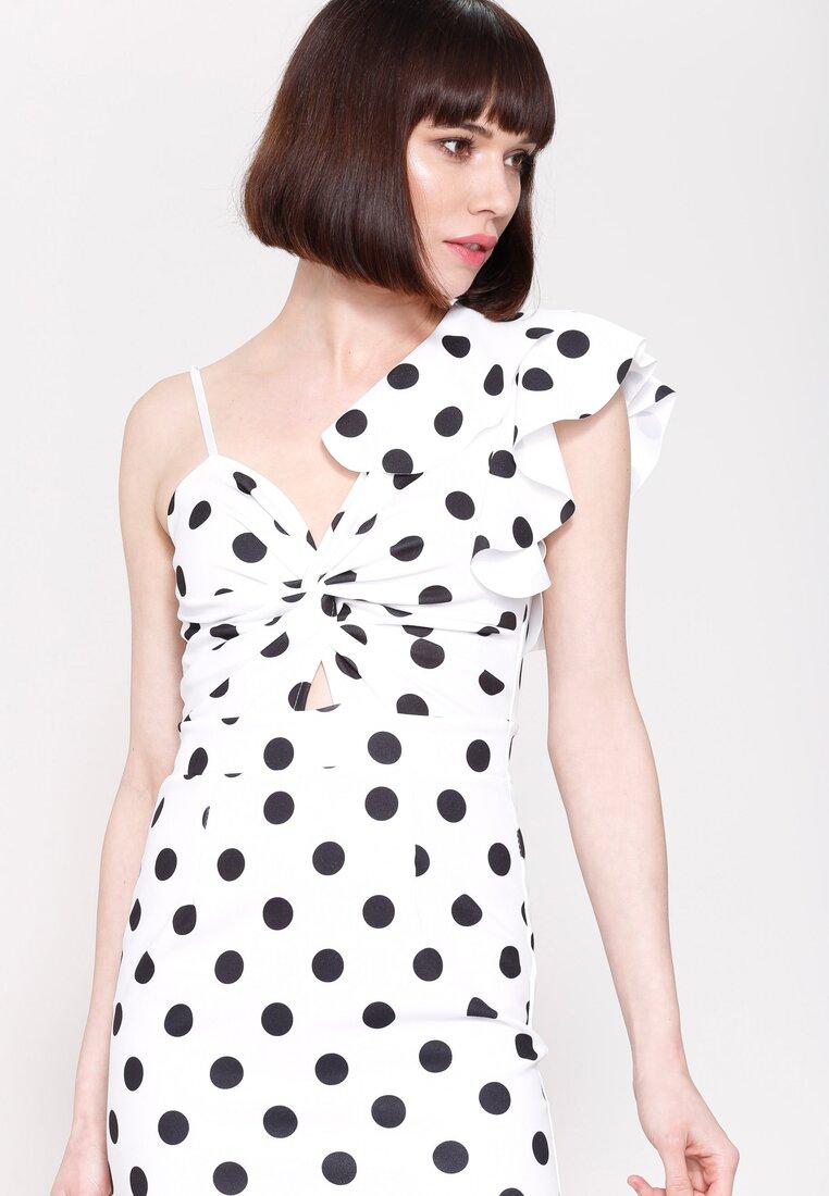 Biała Sukienka I Like Dots