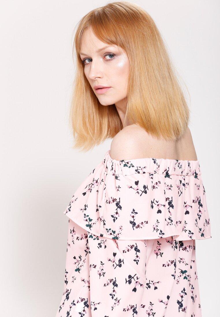 Łososiowa Bluzka Flowering Theme