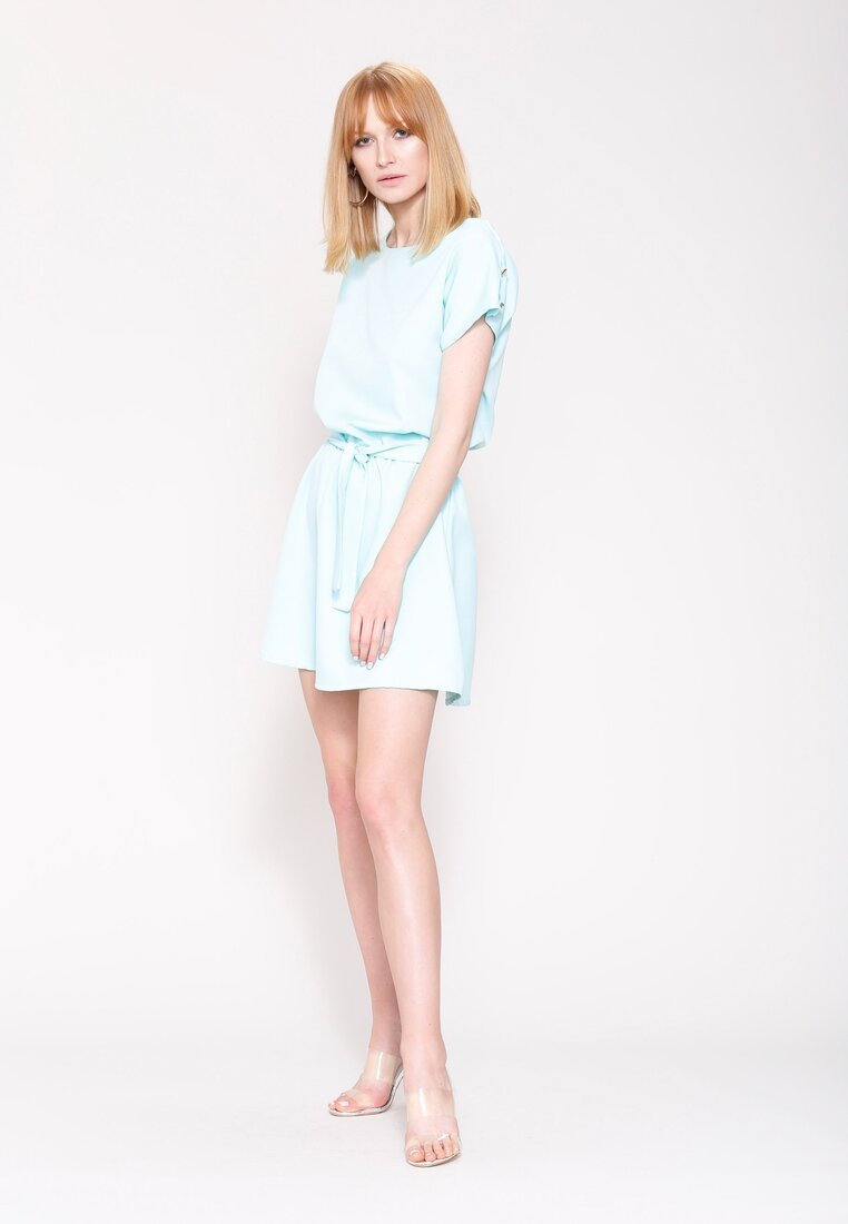 Miętowa Sukienka White Lilies
