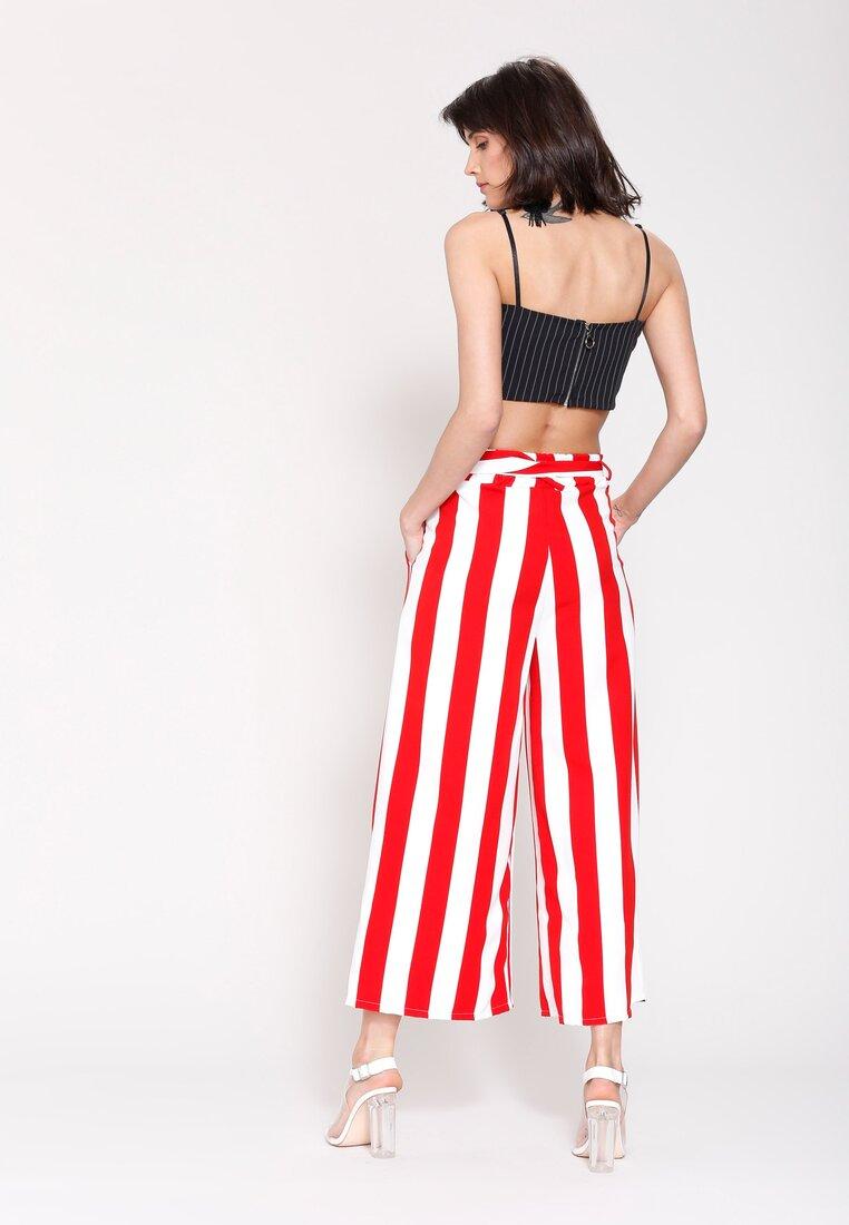 Czerwone Spodnie Linear Stripes