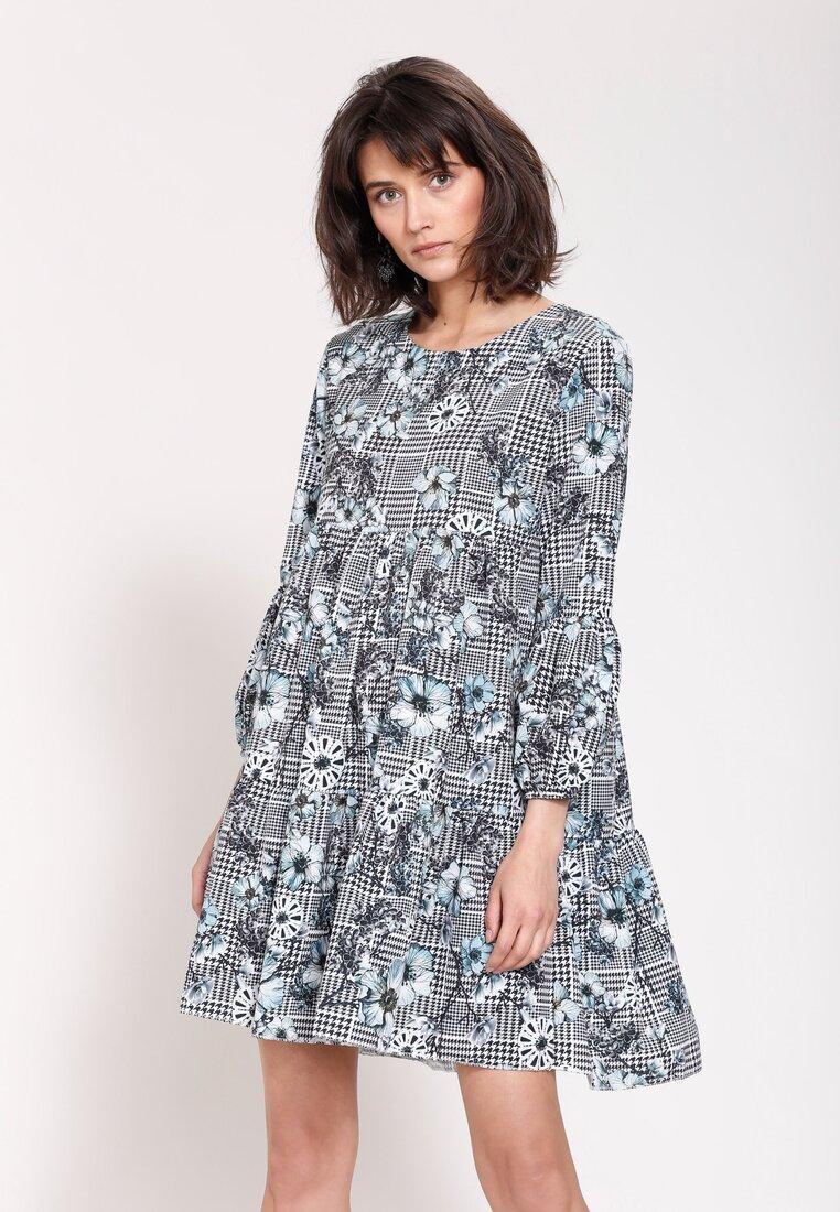 Szaro-Niebieska Sukienka The One