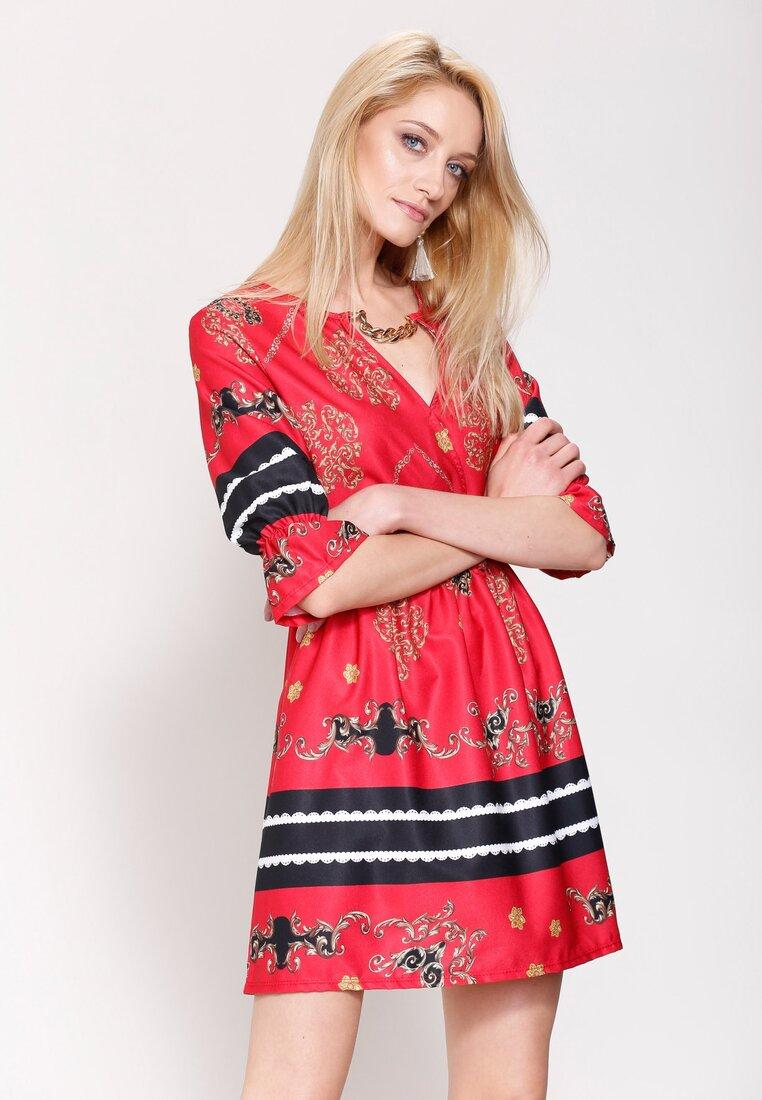 Czerwona Sukienka Belle Florist