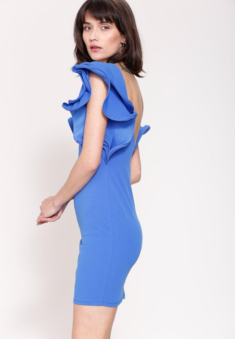 Niebieska Sukienka Mysterious Garden