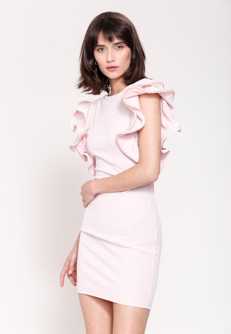 Różowa Sukienka Mysterious Garden