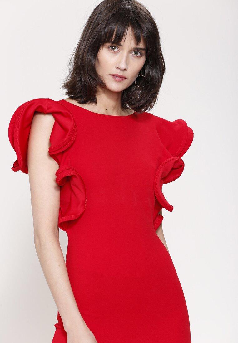 Czerwona Sukienka Mysterious Garden