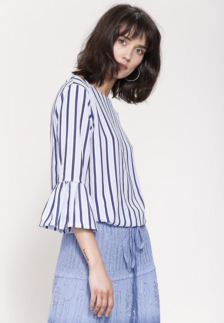 Niebieska Bluzka Modest Chic
