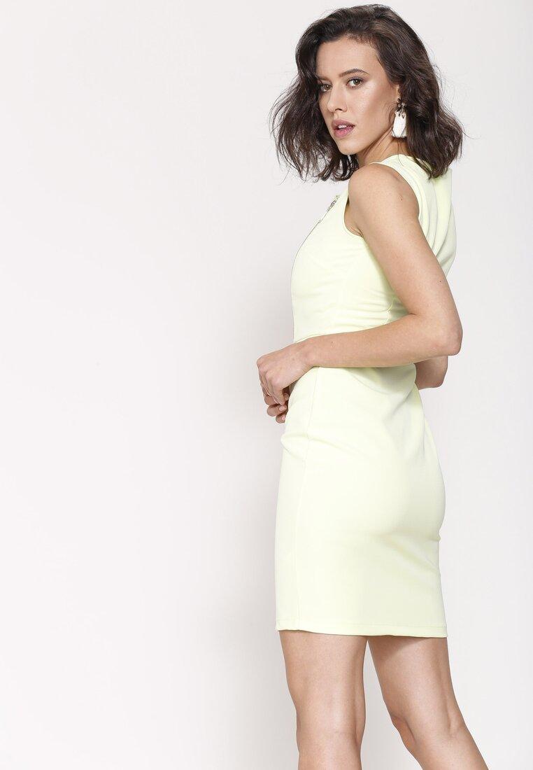 Jasnożółta Sukienka Fresh Idea