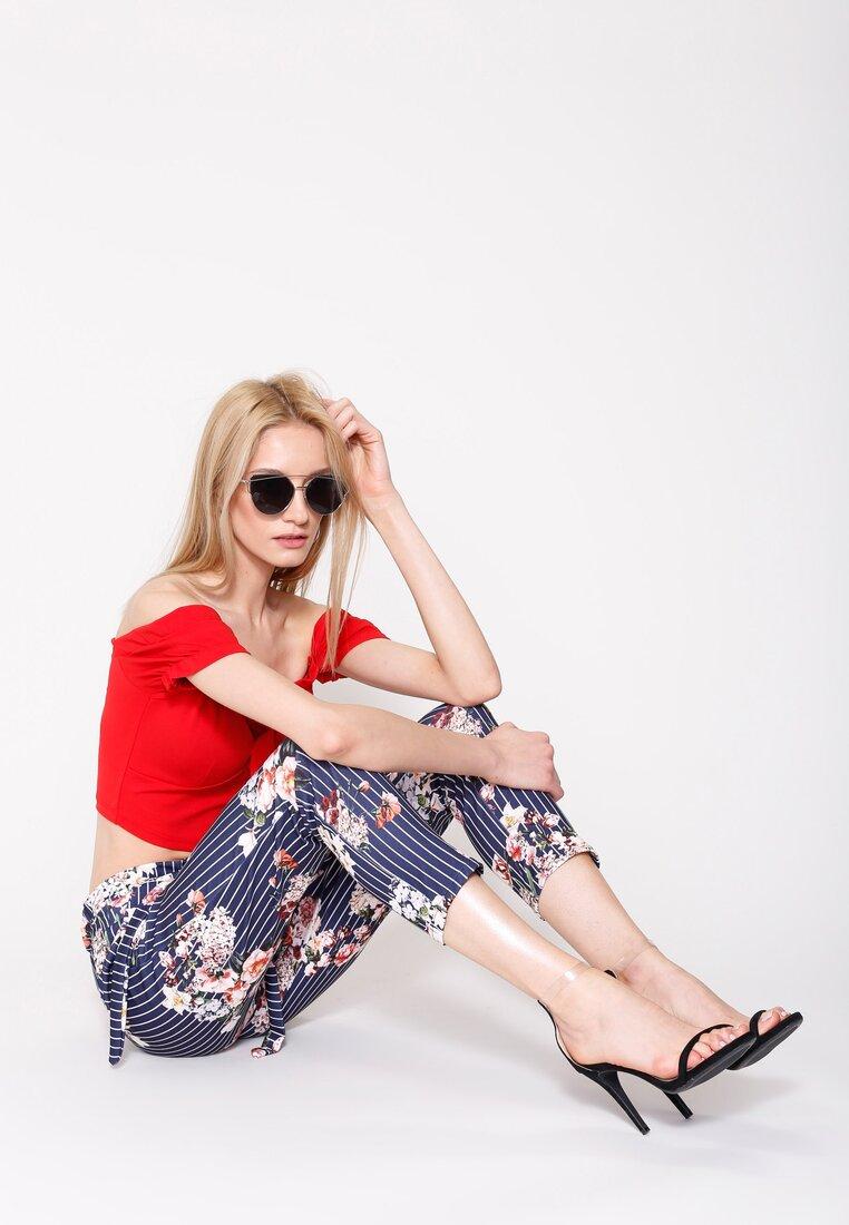 Czarno-Srebrne Okulary To My Knees