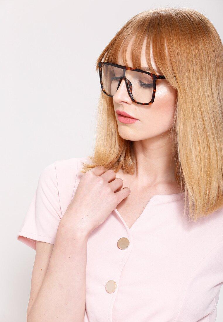 Czarno-Pomarańczowe Okulary Walk Through