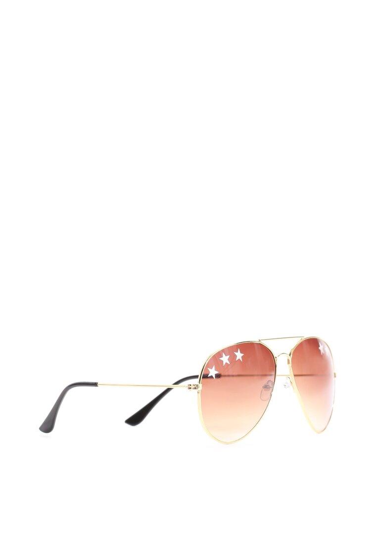 Brązowo-Złote Okulary Wild Dream