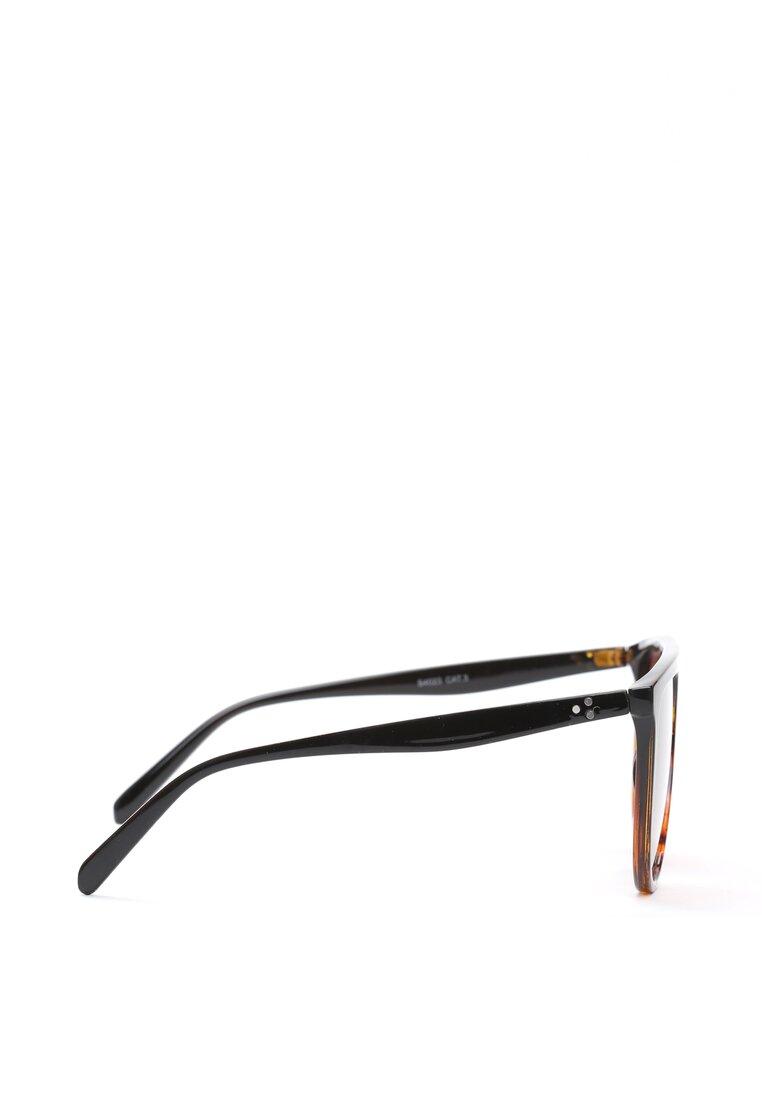 Czarno-Pomarańczowe Okulary Sneak You Out