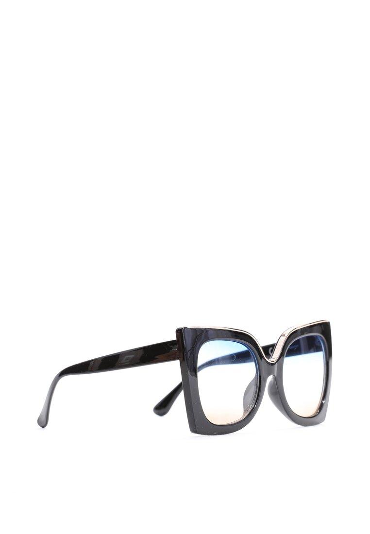 Czarno-Niebieskie Okulary Almost Unreal