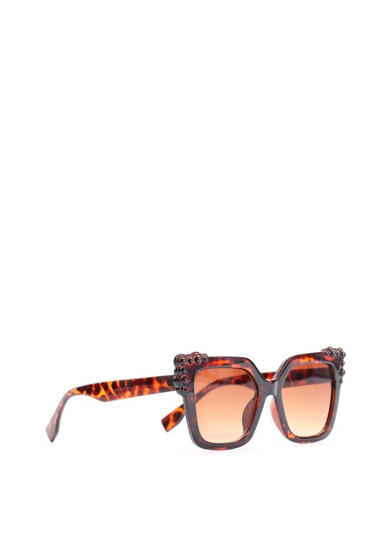 Brązowo-Pomarańczowe Okulary Nobody Else