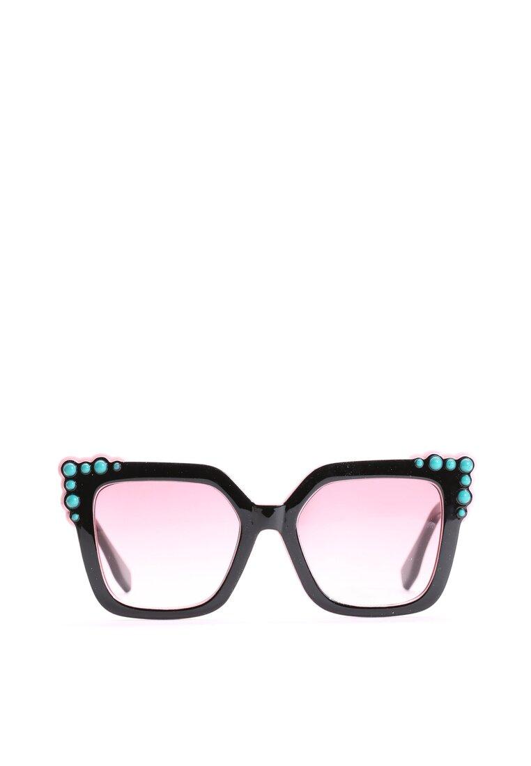 Czarno-Różowe Okulary Nobody Else