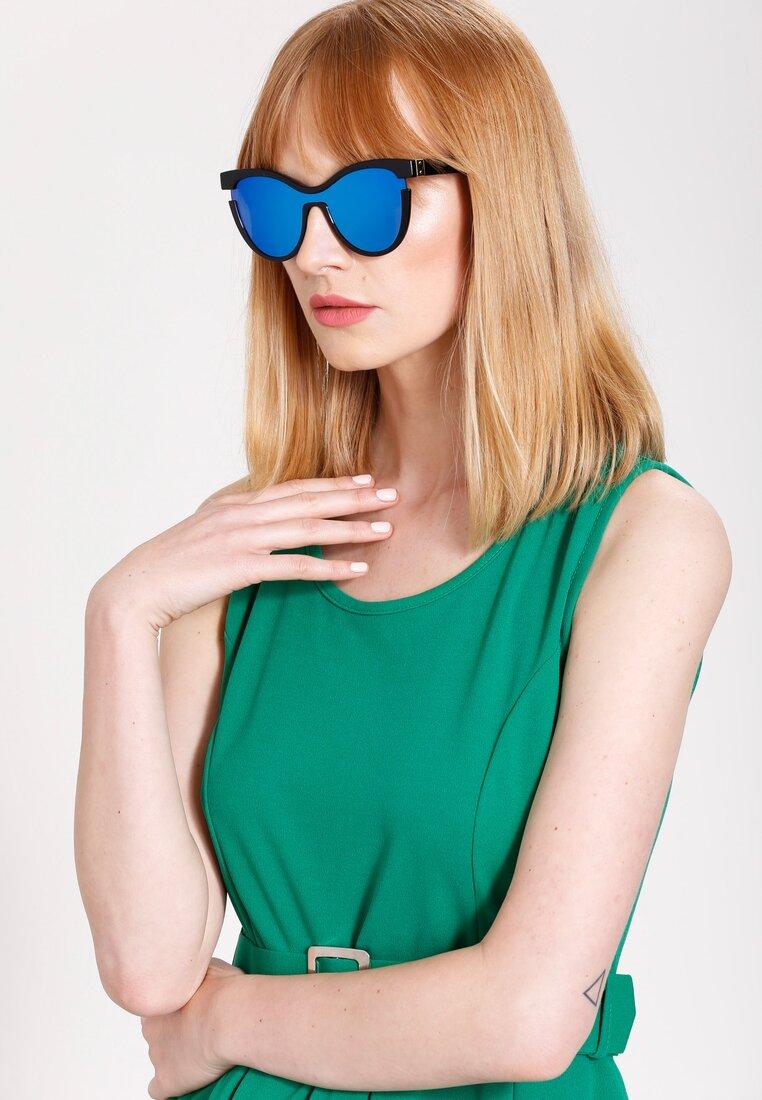 Niebiesko-Czarne Okulary We're Cool