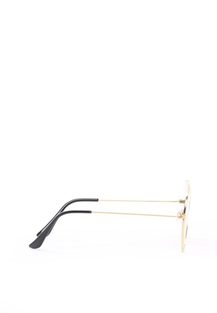Złoto-Brązowe Okulary Have a Nice Day