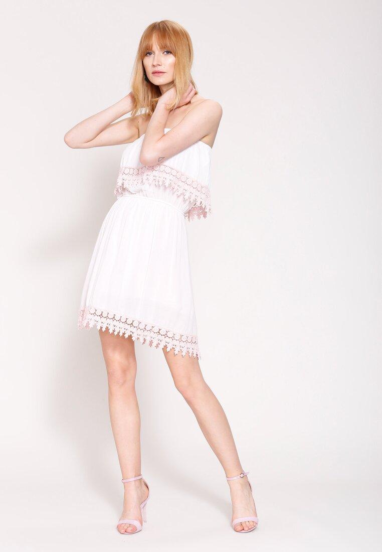 Jasnoróżowa Sukienka Hazel Cream