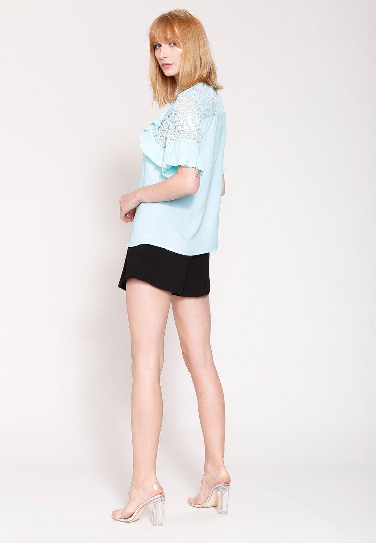 Niebieska Bluzka  Arm Lace