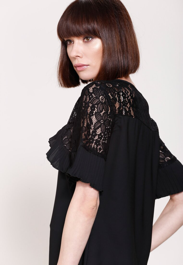 Czarna Bluzka  Arm Lace