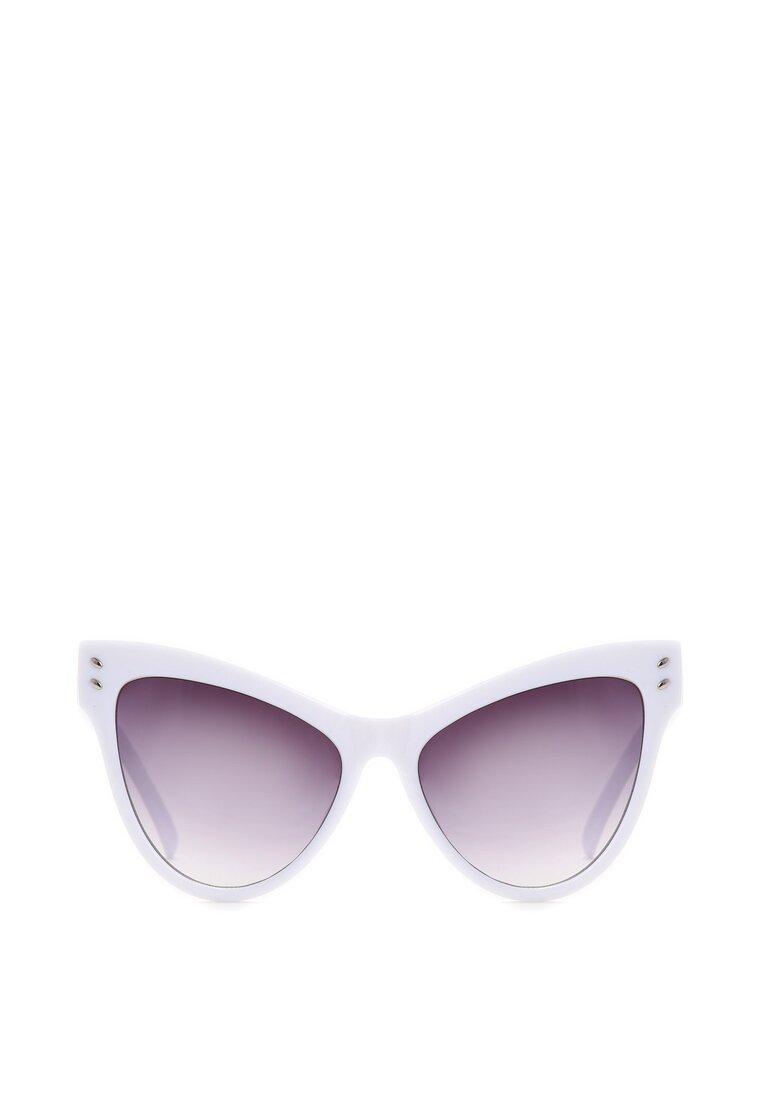 Białe Okulary Bold Scarlet